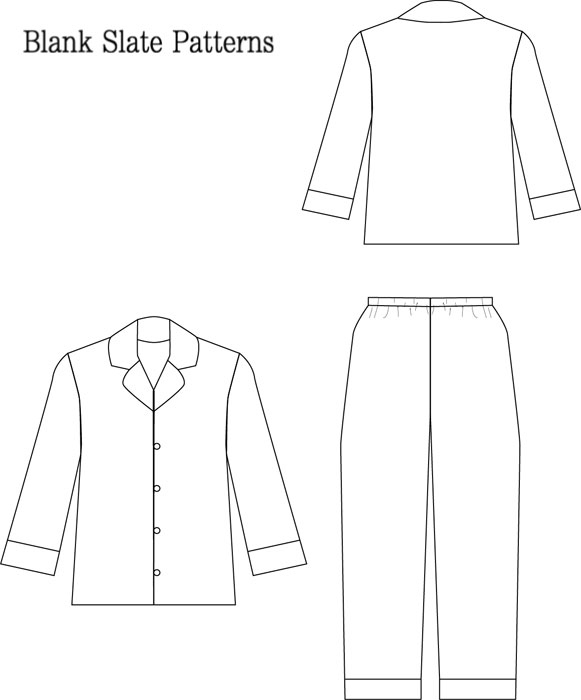 blank slate lazy day pajamas child s pajamas downloadable pattern