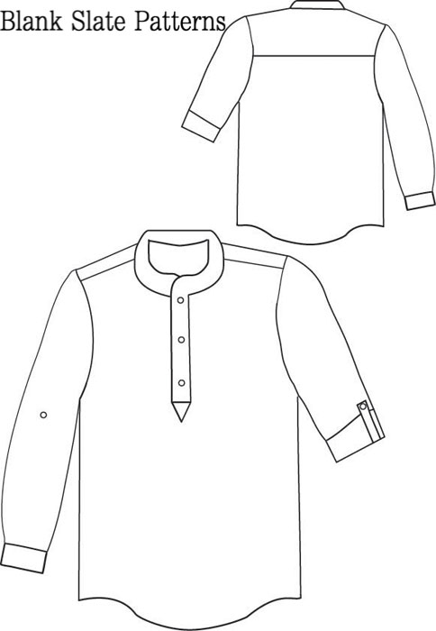 Blank Slate Prepster Pullover Child's shirt Downloadable Pattern