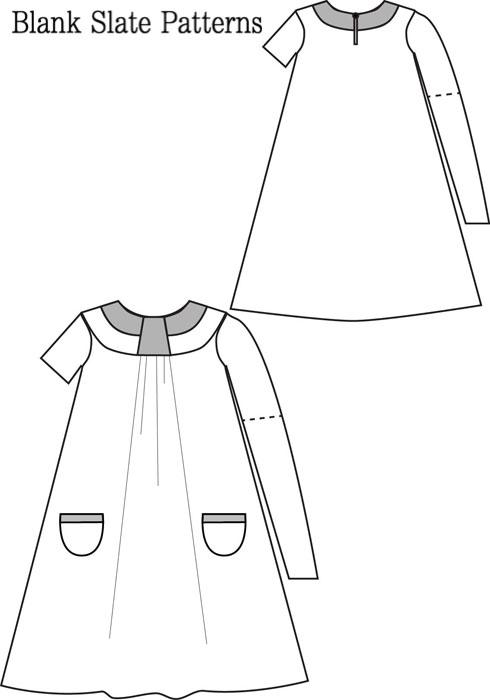 Blank Slate Pristine Swing Dress Child's Dress Downloadable Pattern Simple Swing Dress Pattern