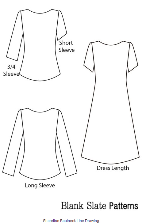 Plain long sleeve dress pattern