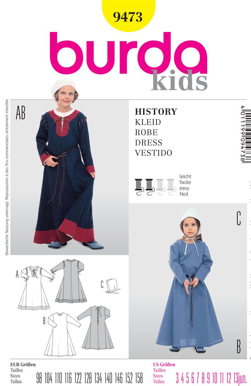 Burda 9473 Children's Costume