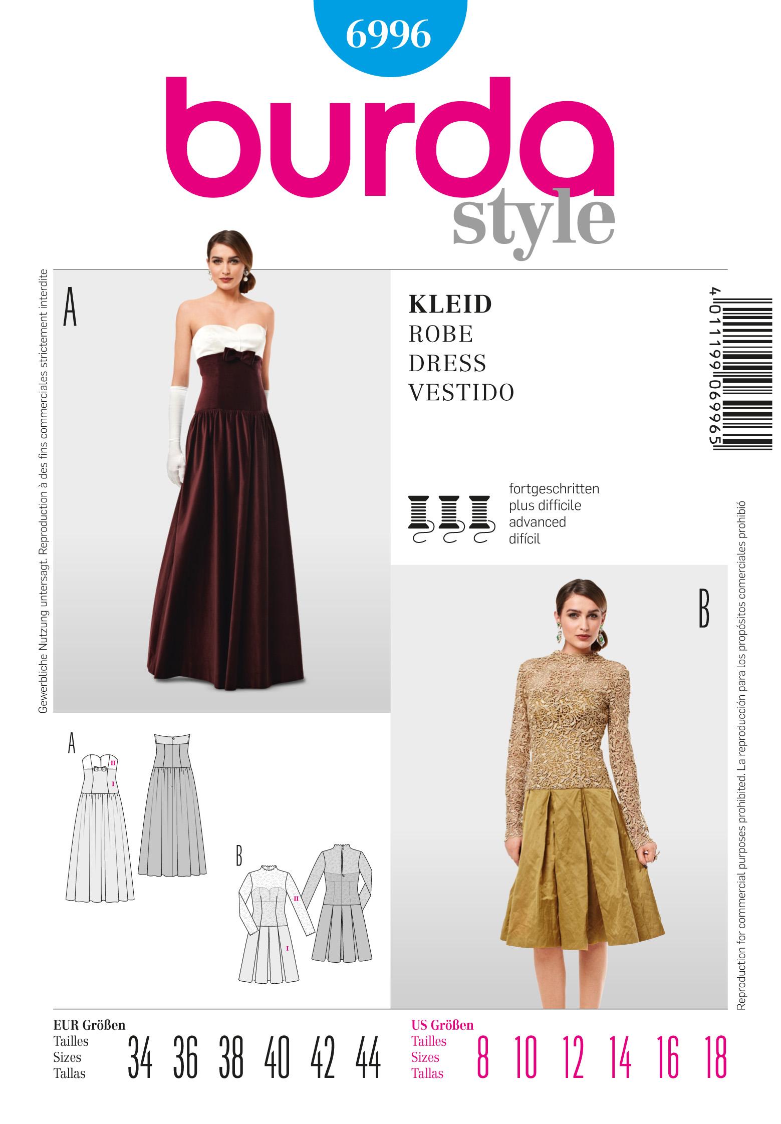 Burda 6996 Evening Dress