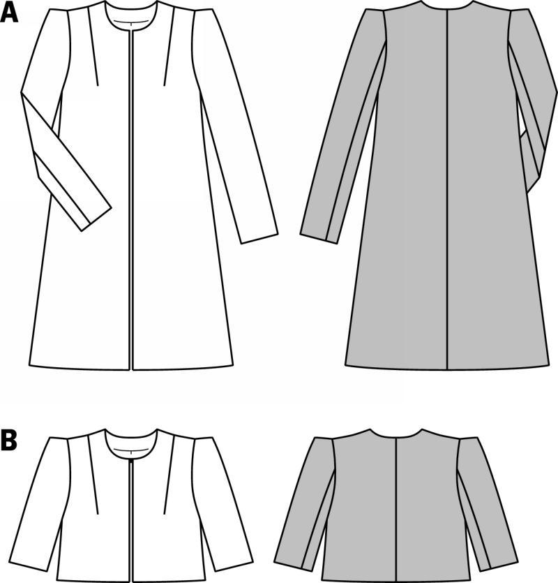 Line Drawing Jacket : Burda coat jacket