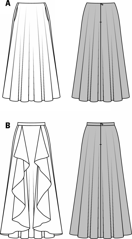 Evening Skirt Patterns 28