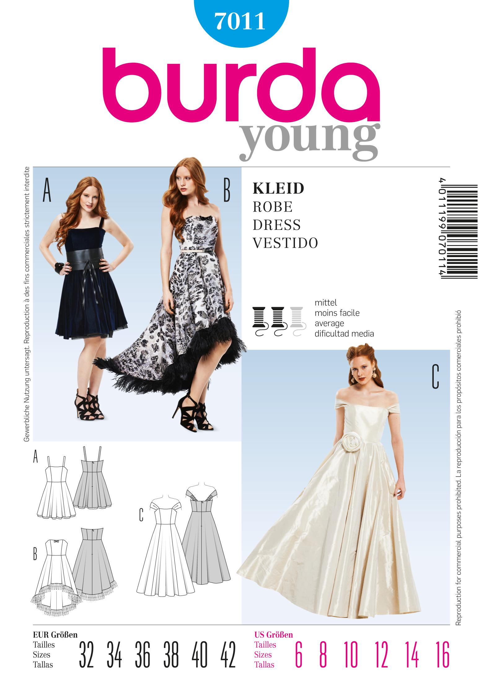 Burda 7011 Evening Dress