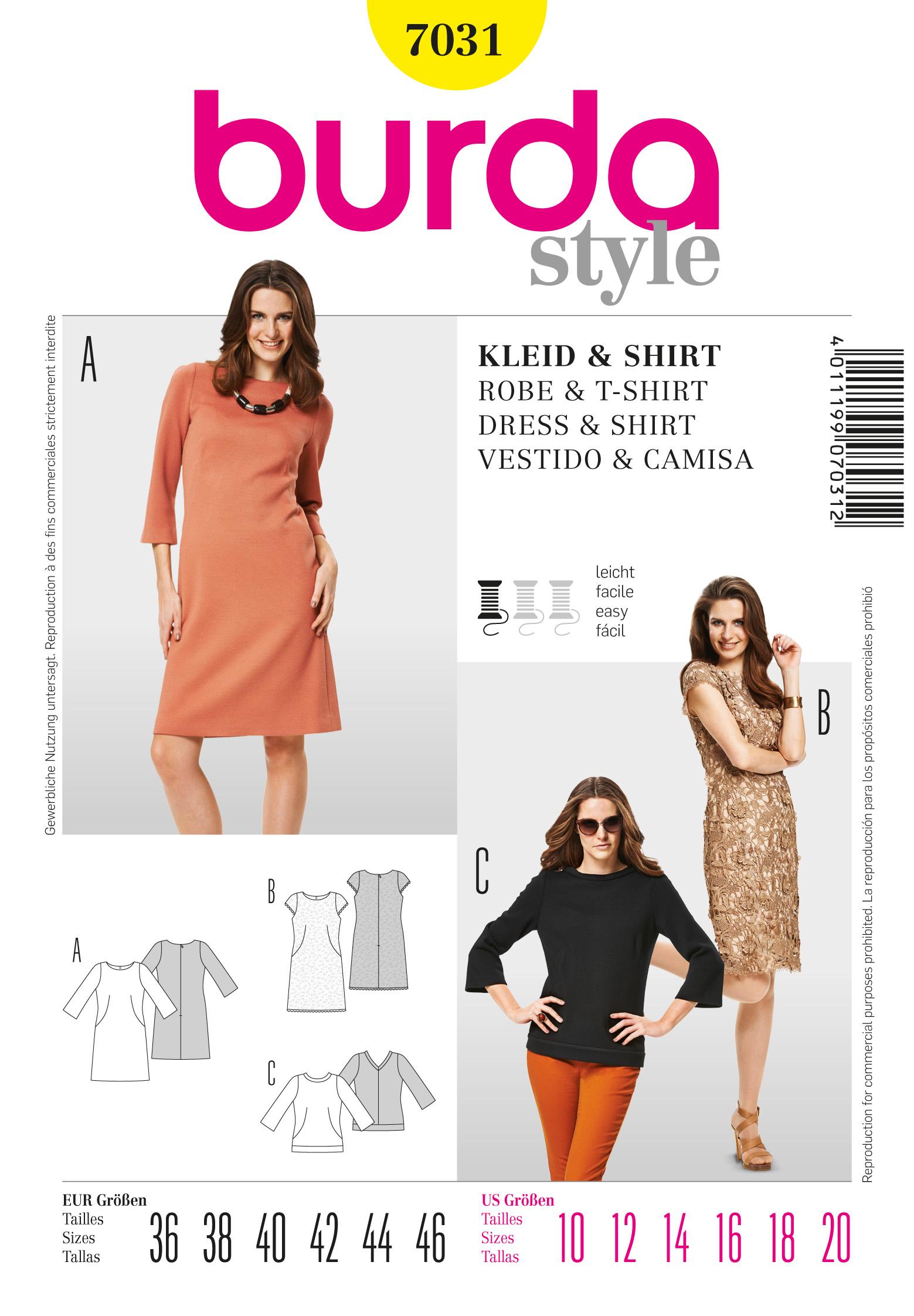 Burda 7031 Dress