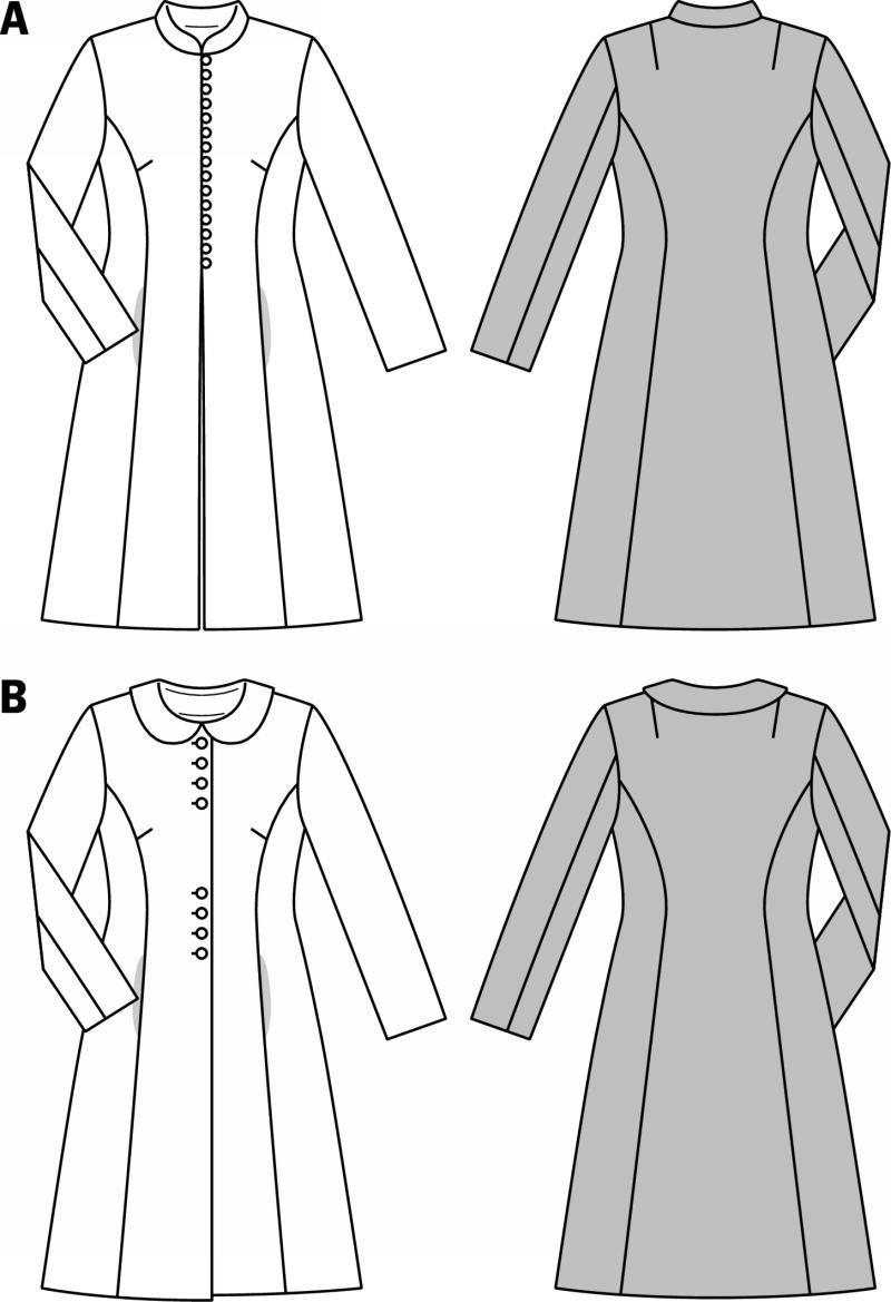 Burda 7041 Vintage Coat