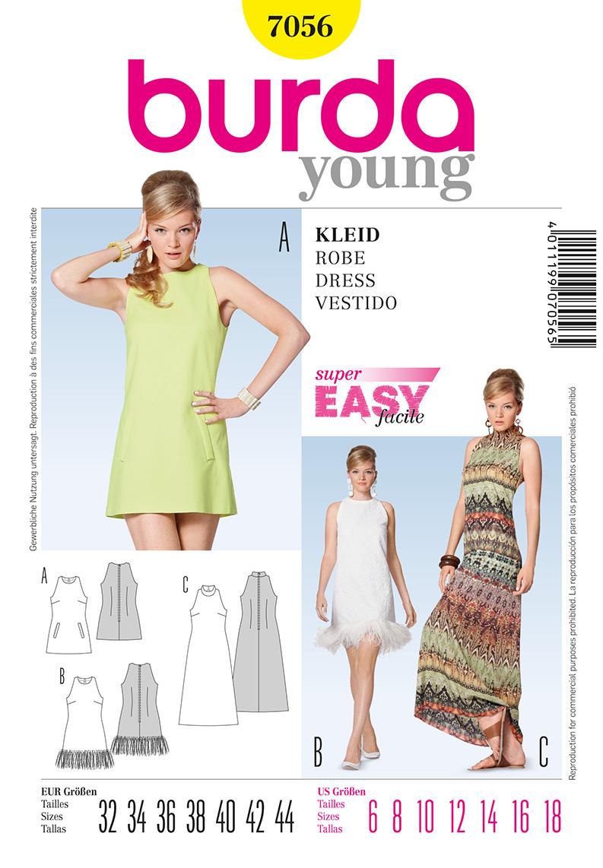 Burda 7056 Misses Dresses