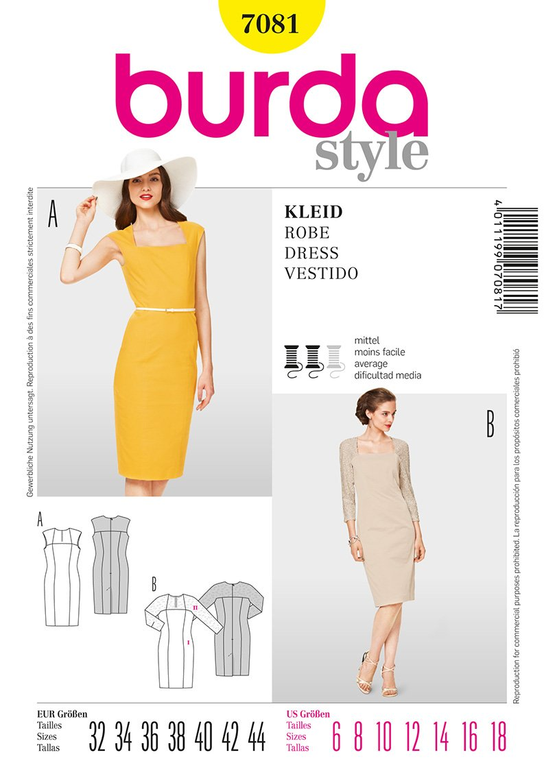 Burda 7081 Misses Dress