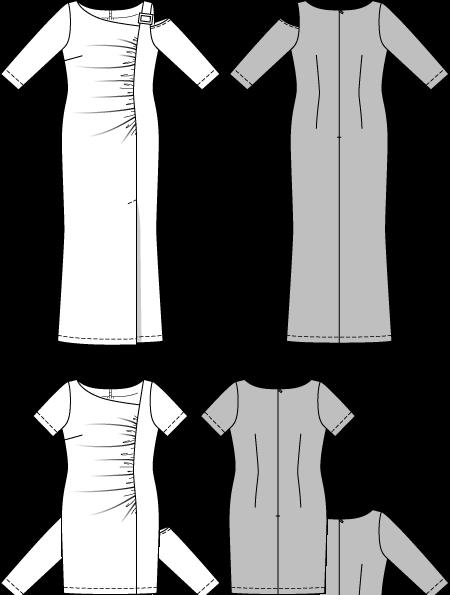 Burda 6712 Misses And Plus Size Shirt Dress