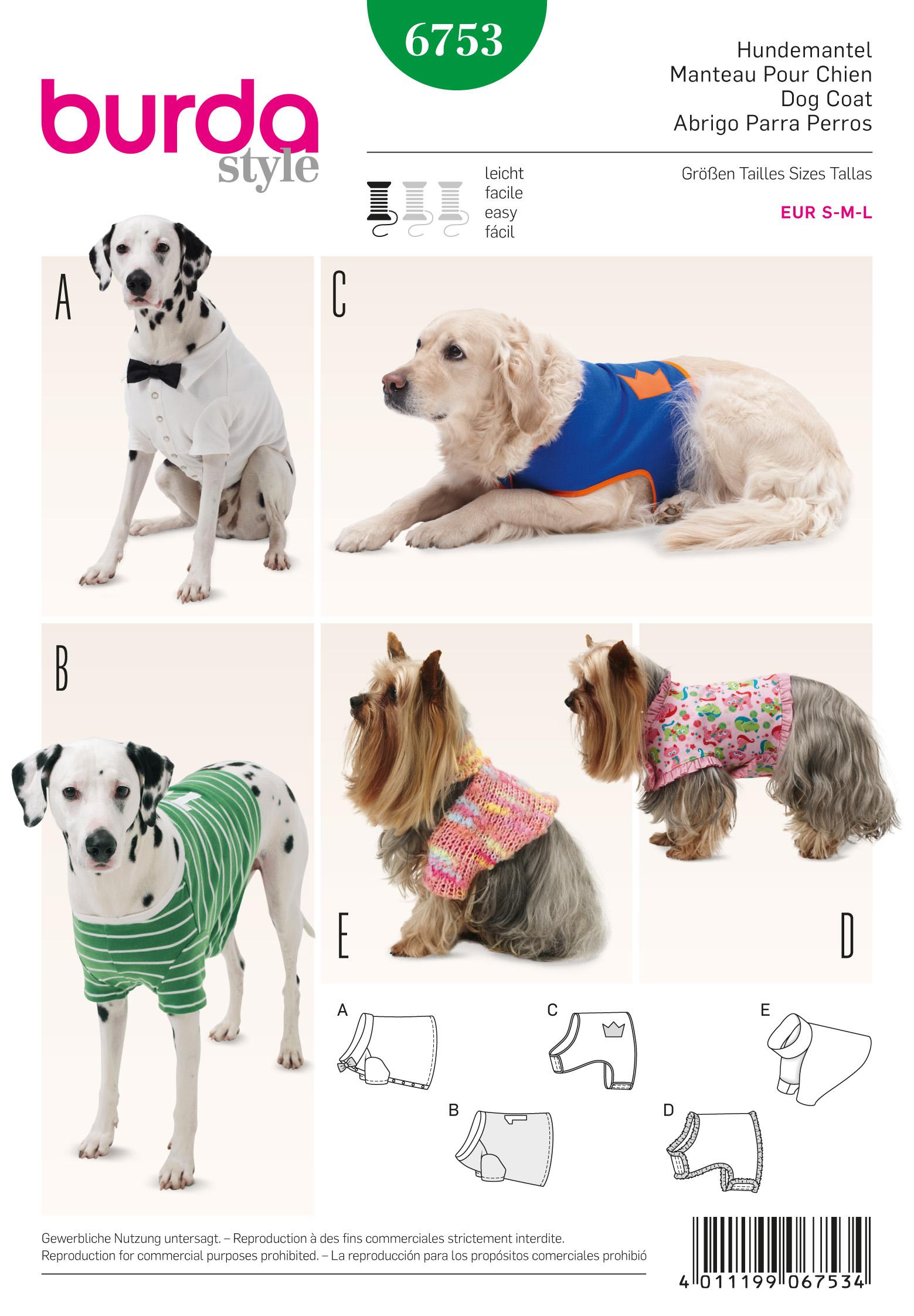 Burda 6753 pet clothings prevnext jeuxipadfo Image collections