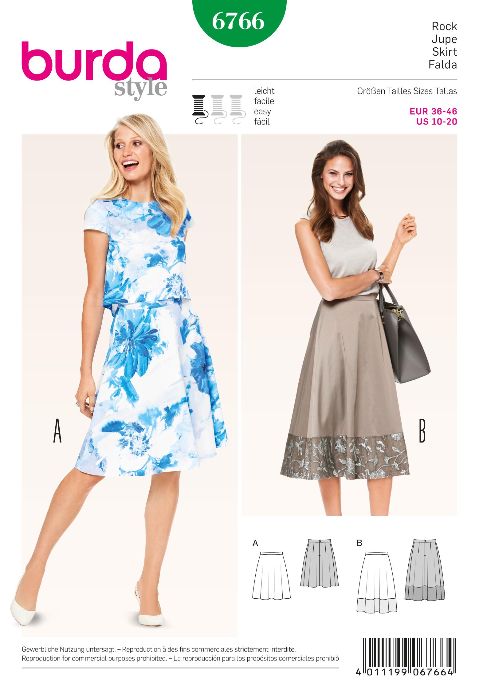 Burda 6766 Burda Style Skirts