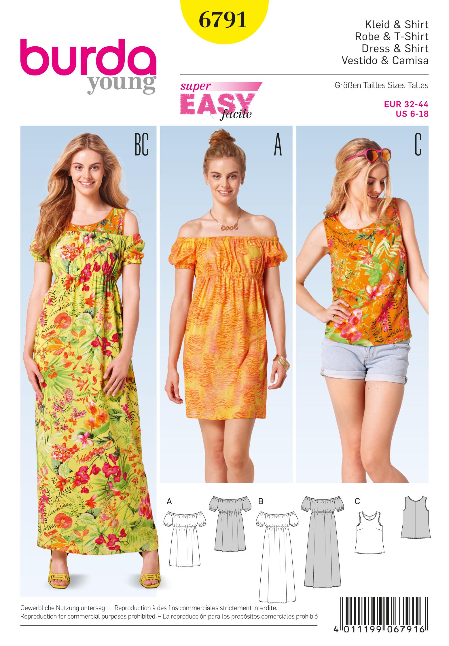 Matching Patterns Burda 6791 Burda Style Dresses