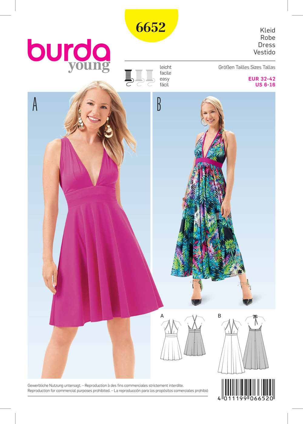 Burda 6652 Misses' Dress