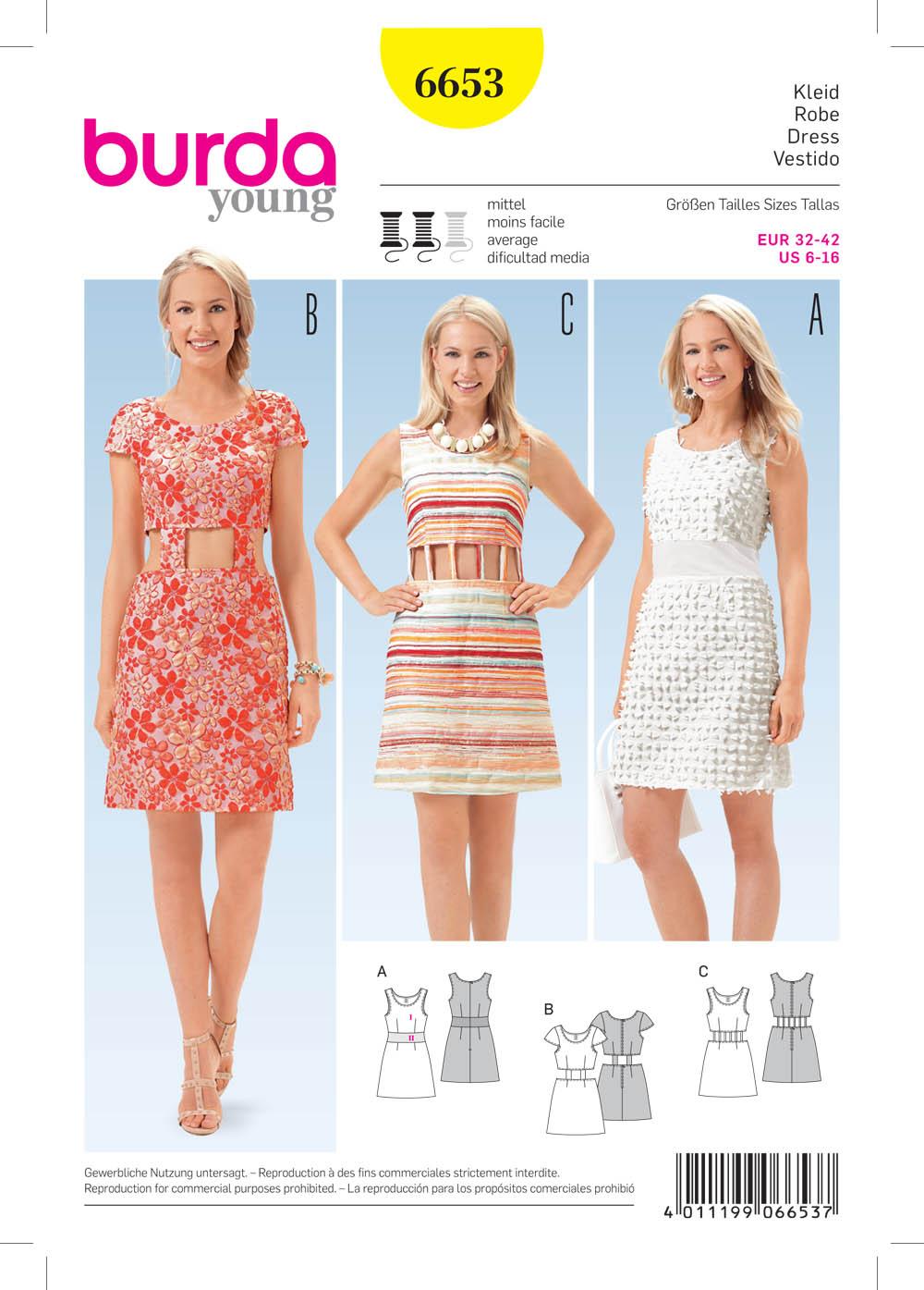 Burda 6653 Misses Dress