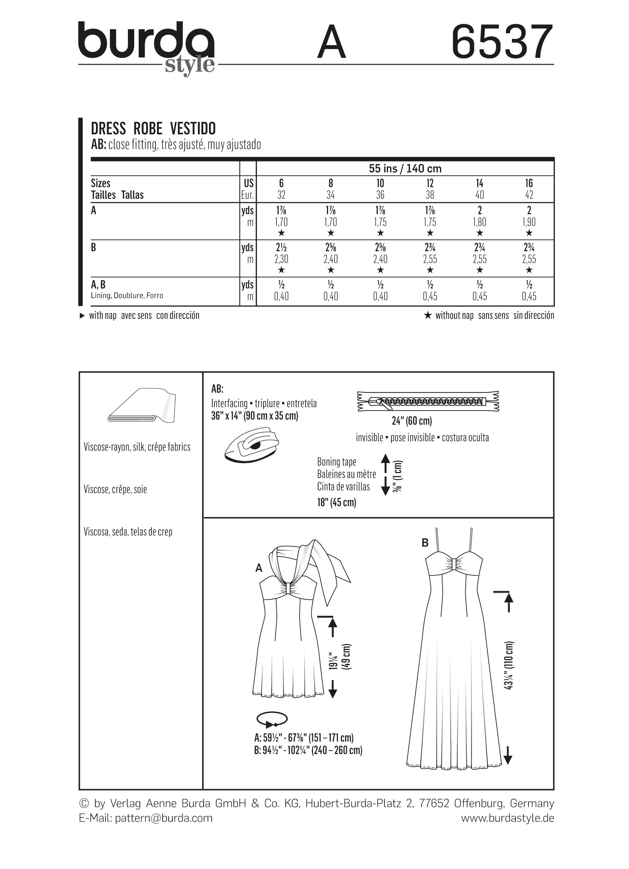Burda 6537 Misses\' Halter Neck Dress