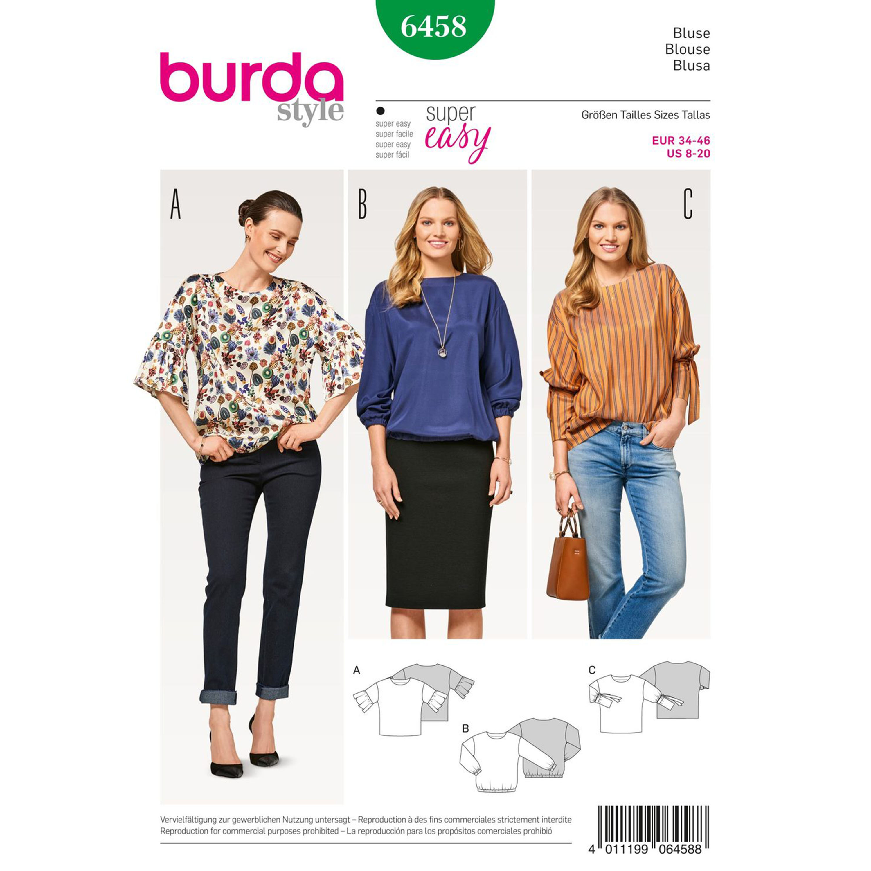 Burda Burda Style Pattern B6458 Misses' Blouse