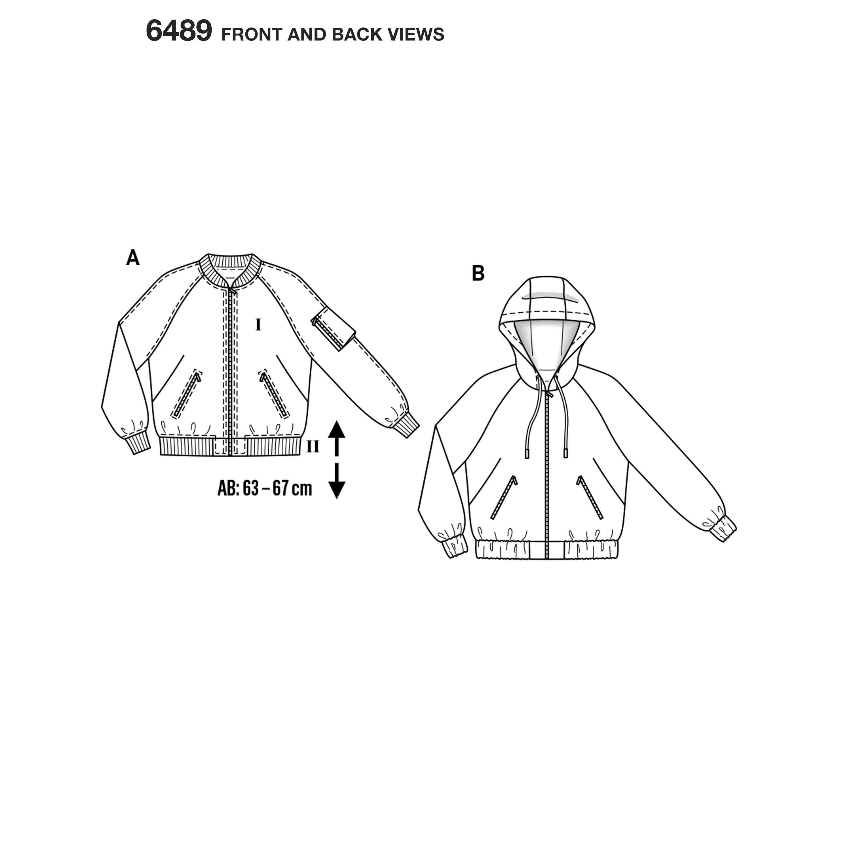 Burda burda style pattern b6489 misses hooded jacket prevnext jeuxipadfo Choice Image