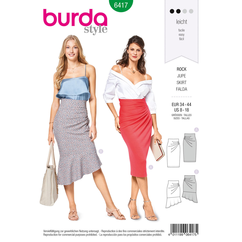 dc4c59c3d7 Burda Burda Style Pattern B6417 Misses' Asymmetric Skirts
