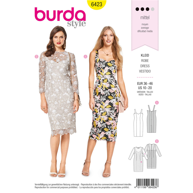 425c4931773b Burda Burda Style Pattern B6423 Misses  Summer Strap Dresses
