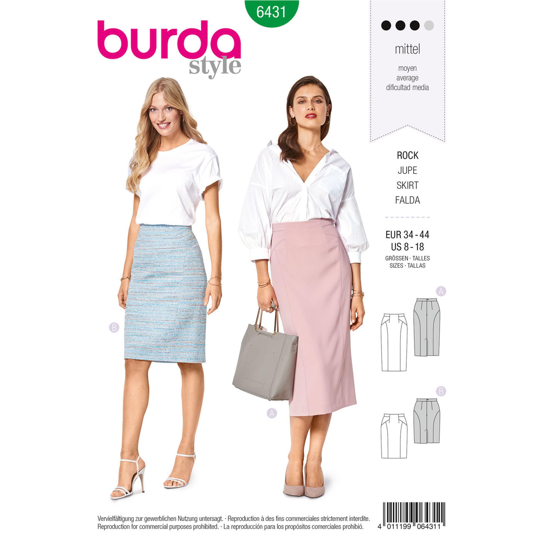 Burda Burda Style Pattern B6431 Misses  Pencil Skirt 85cbfdb98