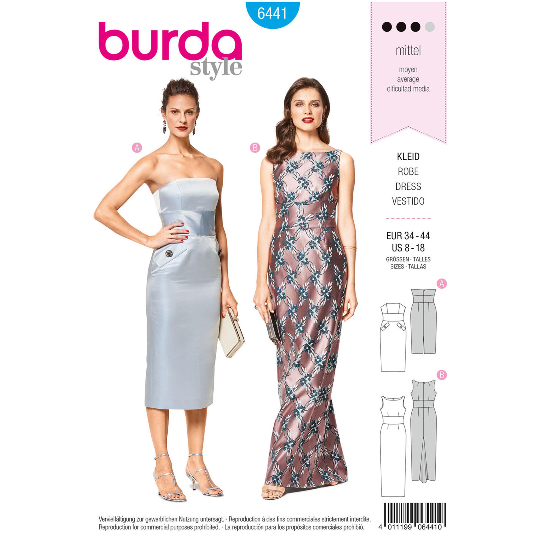 Burda Burda Style Pattern B6441 Misses\' Special Occasion Gowns