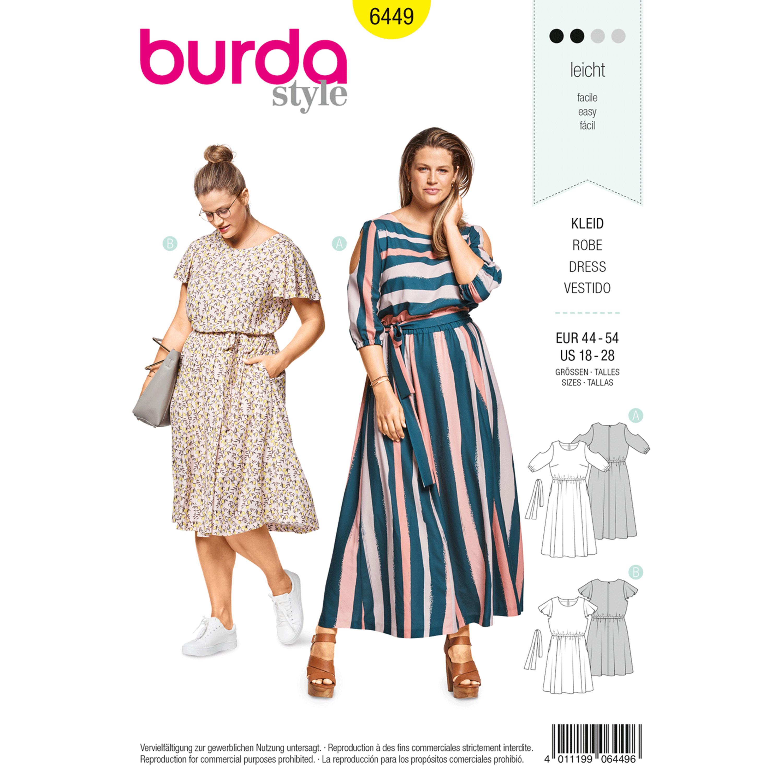 Burda Burda Style Pattern B6449 Women\'s Summer Dresses