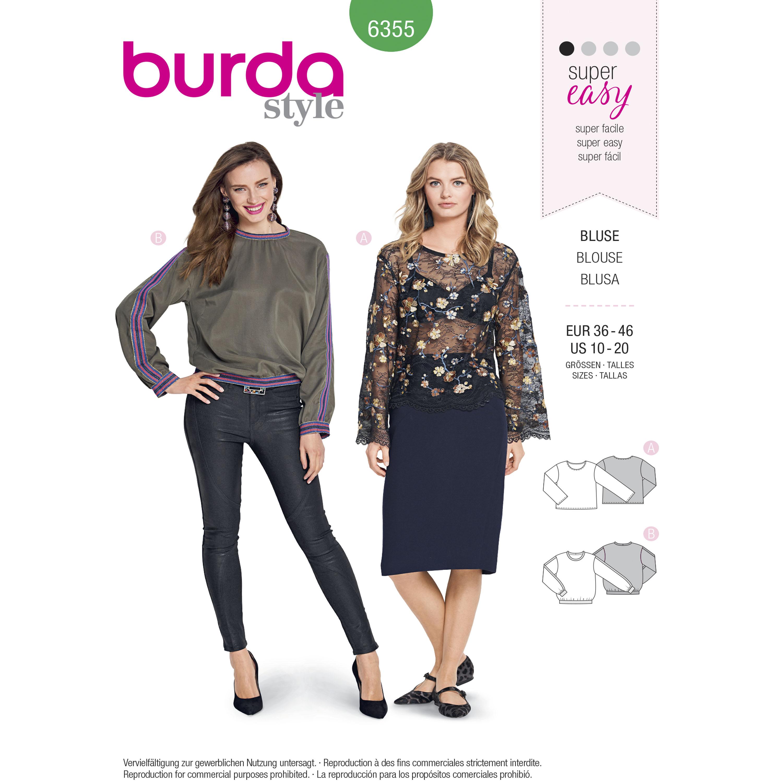 Burda 6355 Misses Shirt Blouses