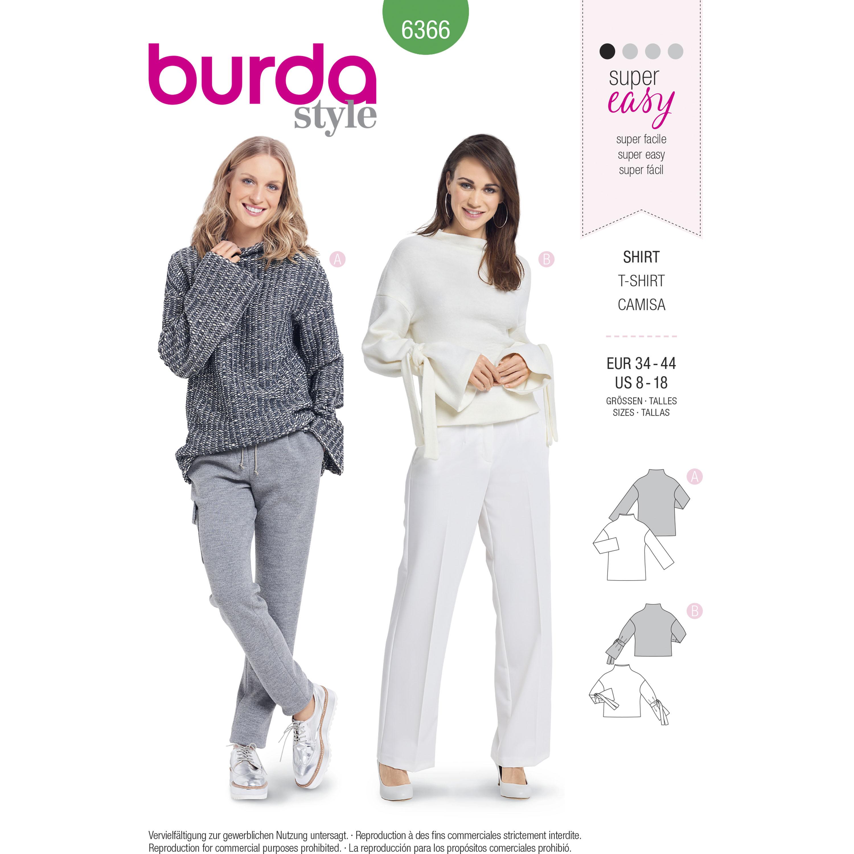 Burda 6366 Misses\' Easy Tops