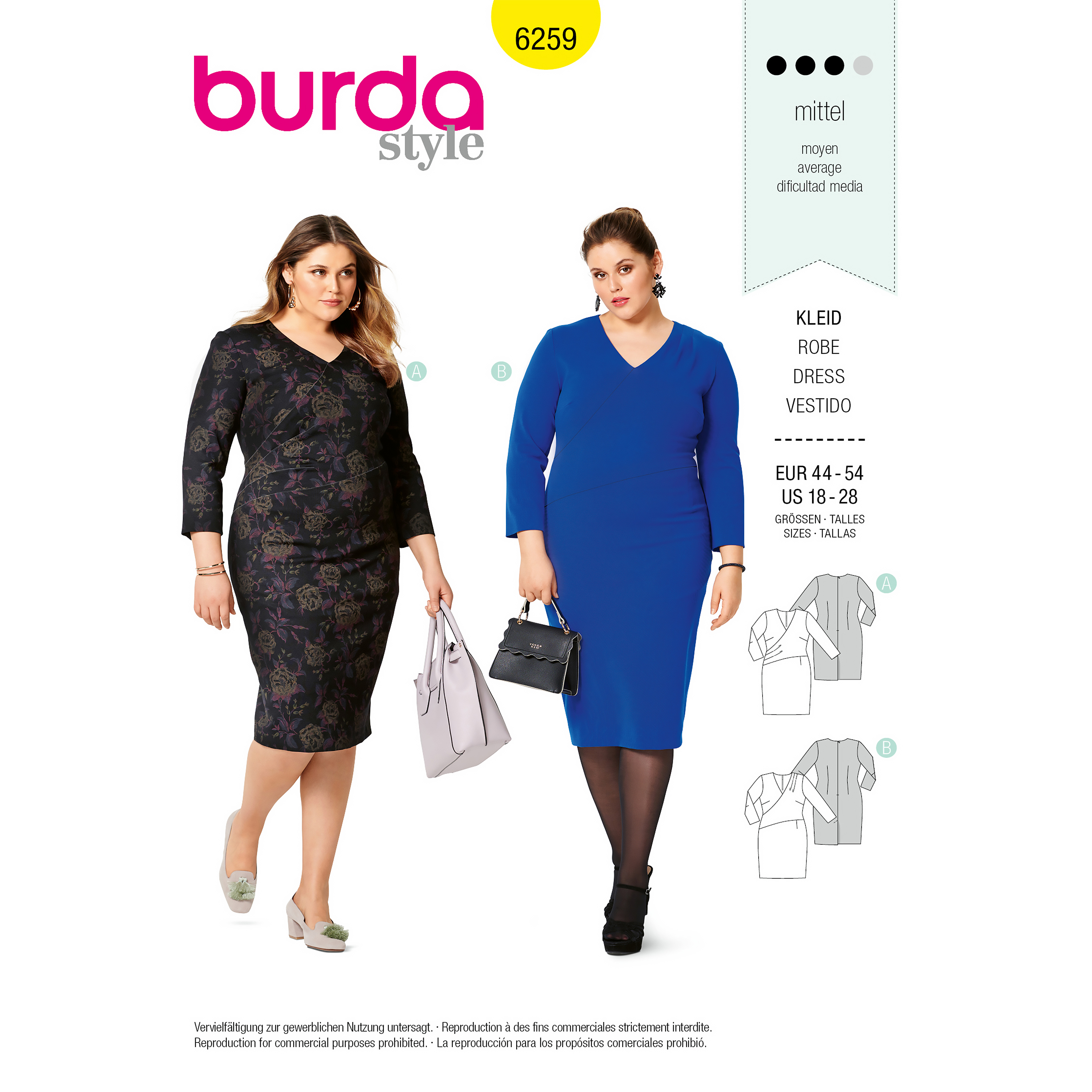 Burda 6259 PLUS SIZE DRESS
