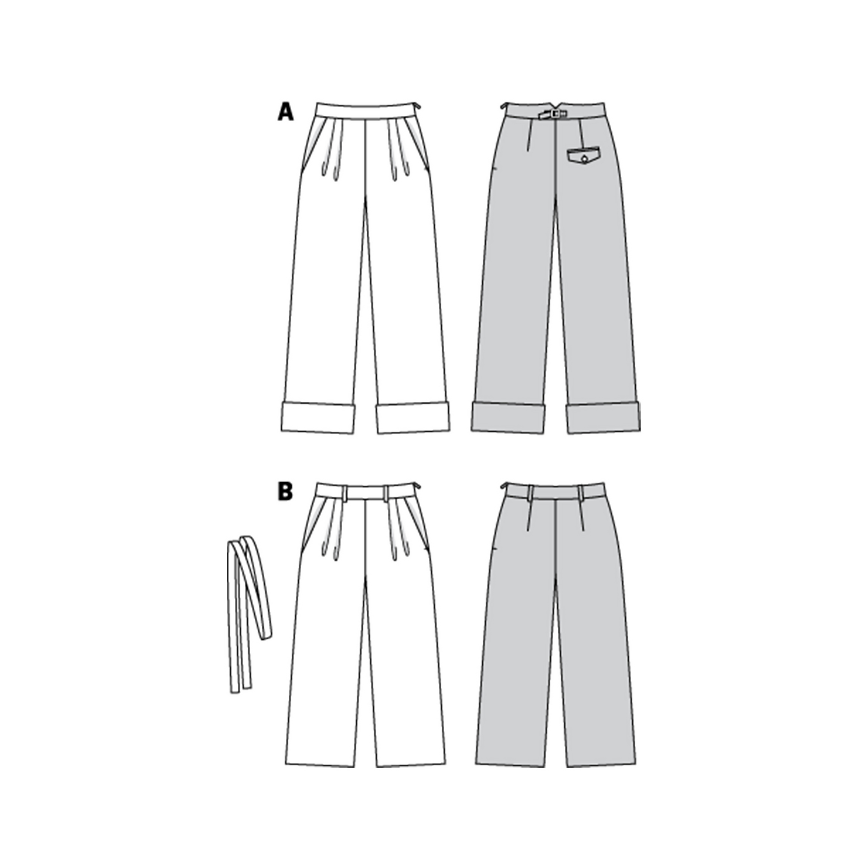 Burda Sewing Pattern 6286 Trousers 34-44