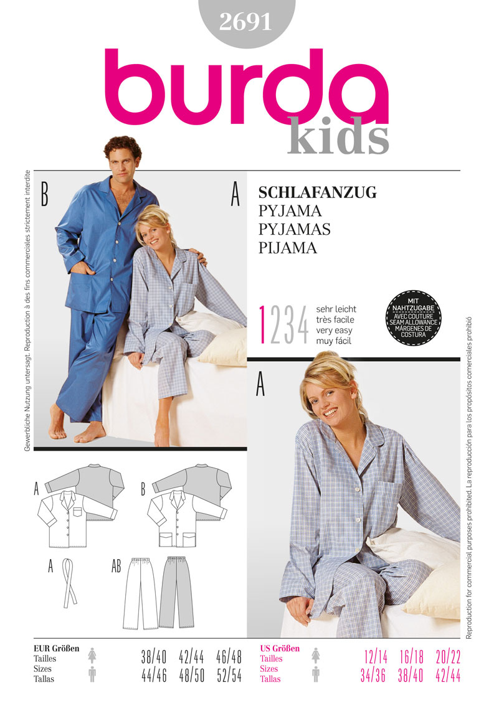 Burda 2691 pyjamas prevnext jeuxipadfo Choice Image