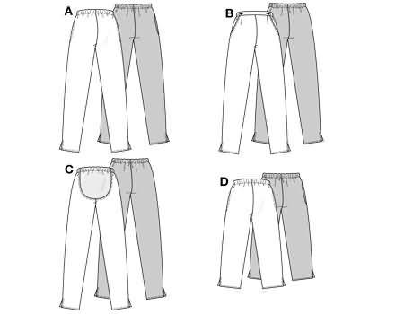 Burda 3255 Maternity trousers/pants