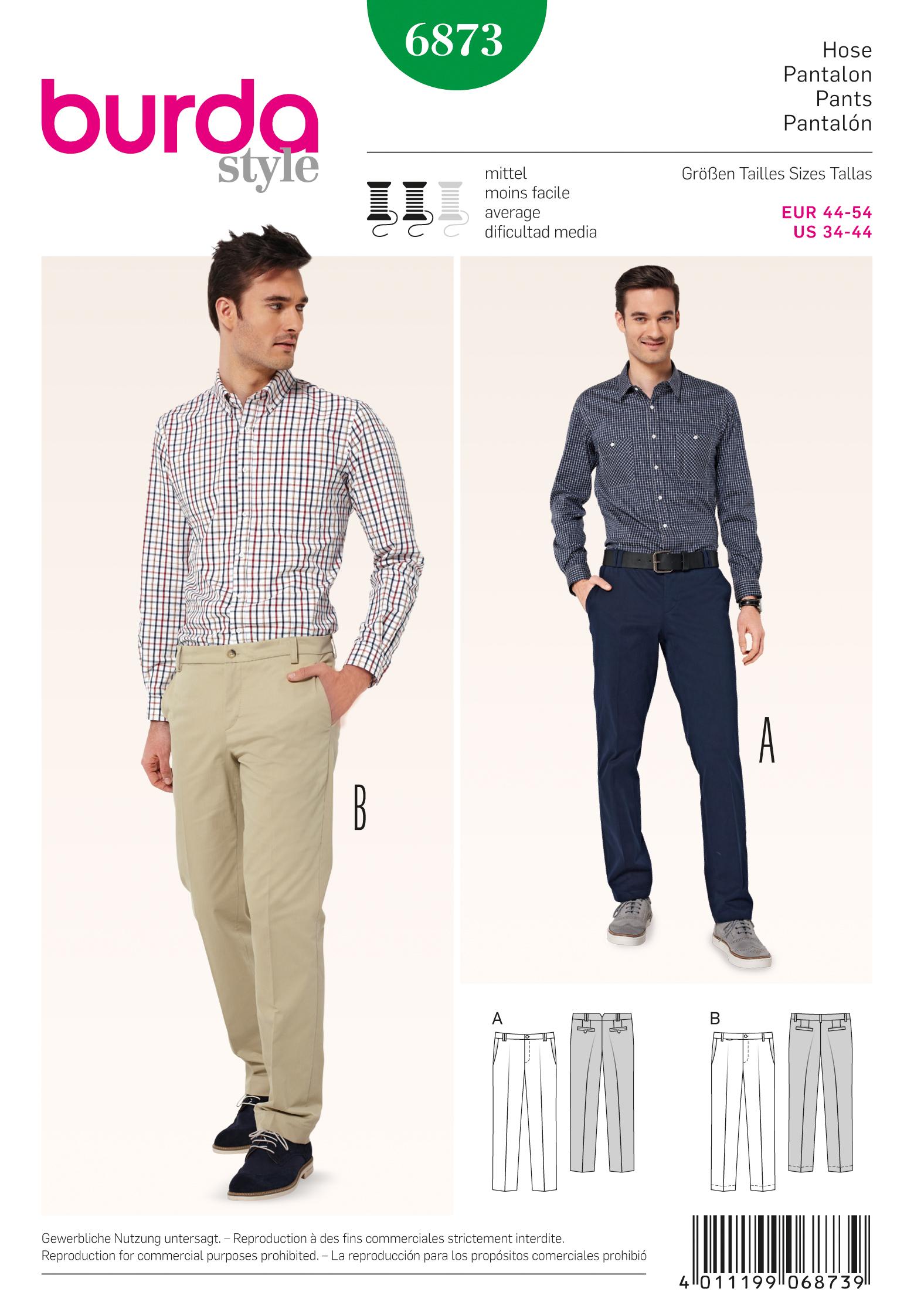 Burda 6873 Men\'s Pants