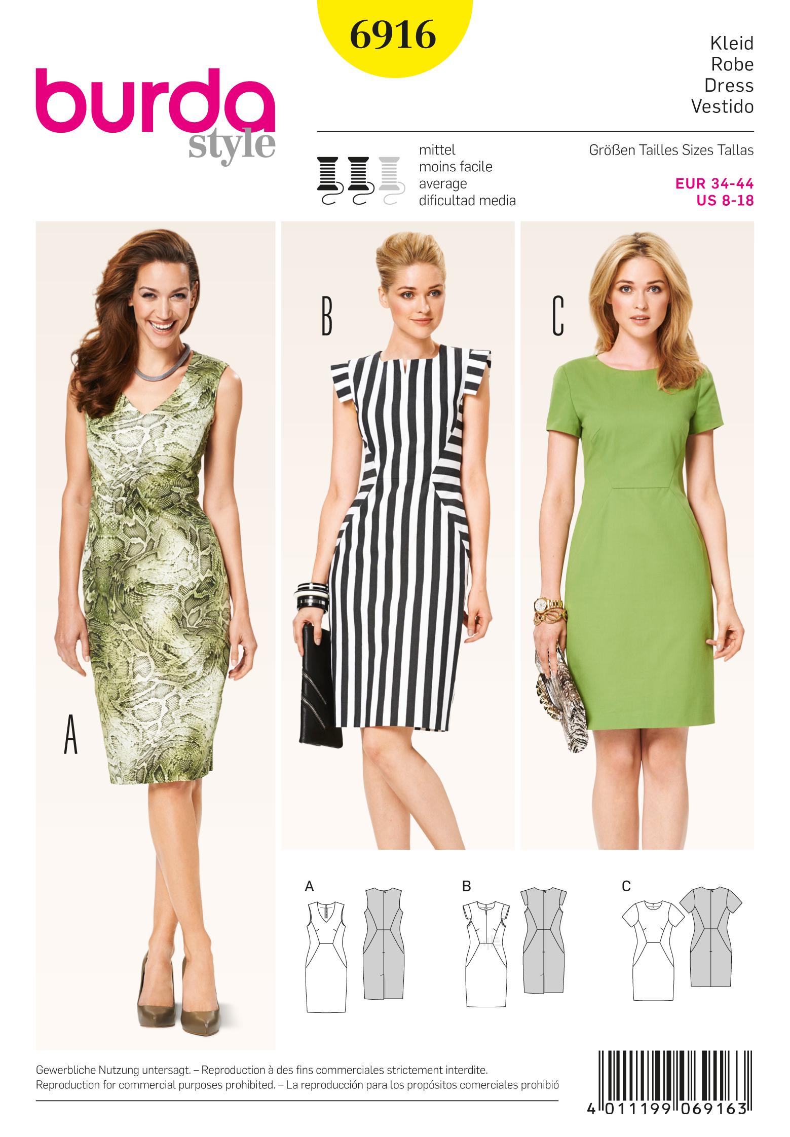 Burda 6916 Dresses