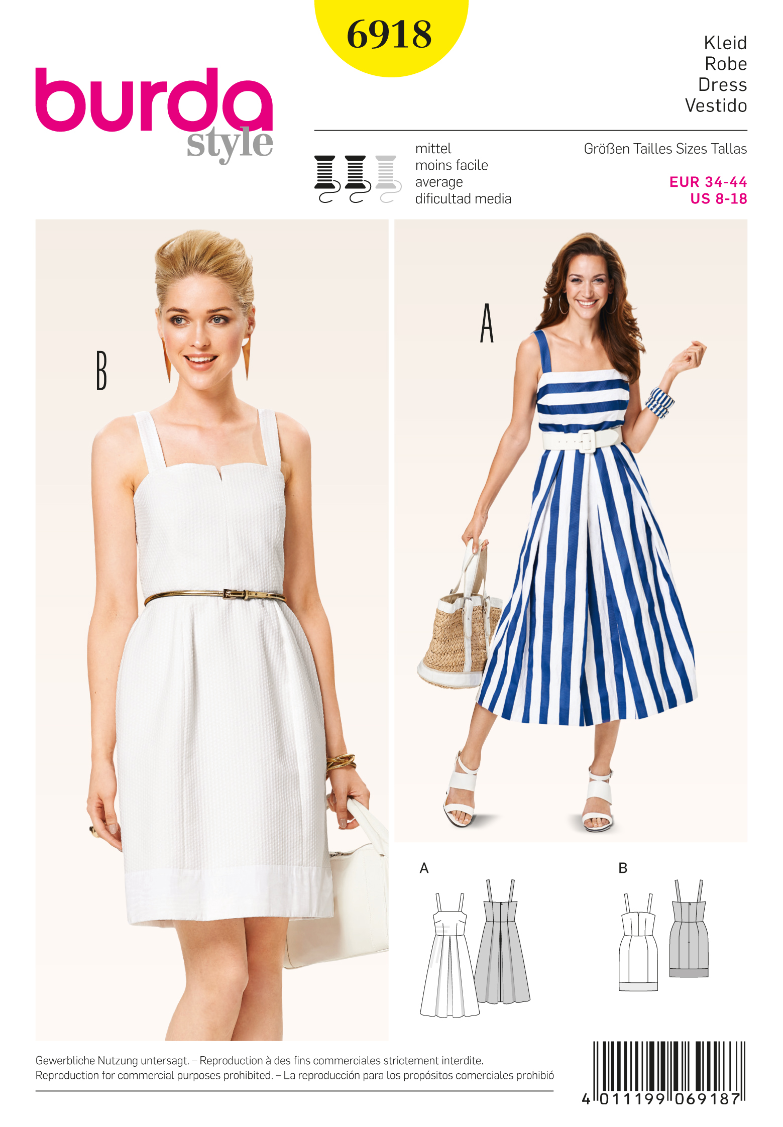 Burda 6918 Dresses