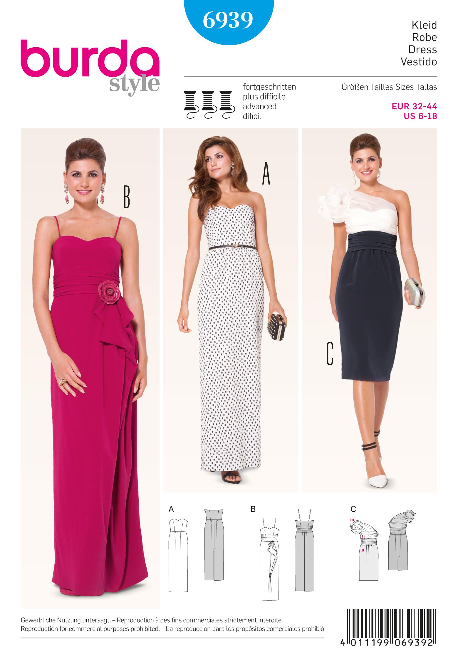 Burda 6939 Evening & Bridal Wear