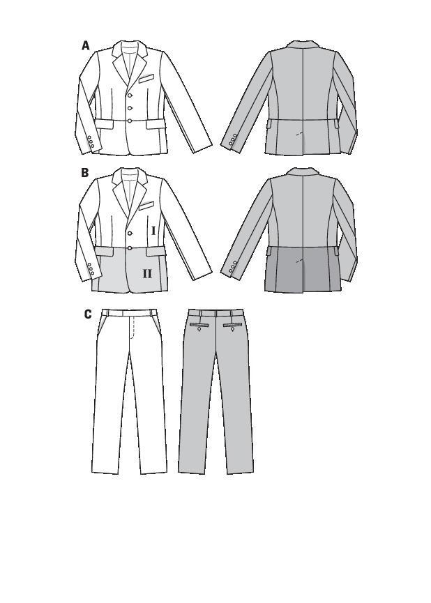Burda 7194 Men\'s suit