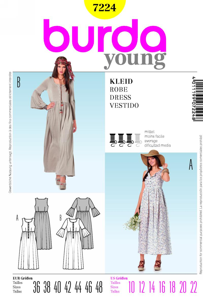 Burda 7224 dress prevnext jeuxipadfo Choice Image