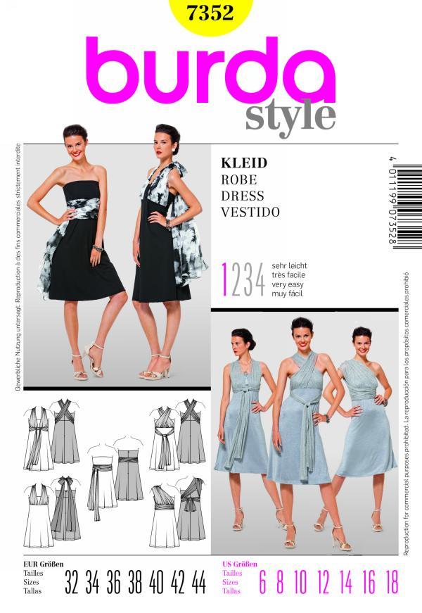 Burda 7352 Dress
