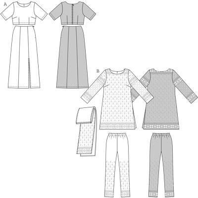 Burda 7701 Ethnic Costume