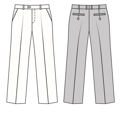 Burda 7841 Men\'s pants/trousers