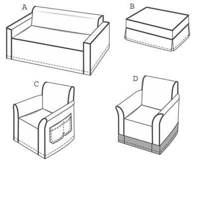 Burda 7900 Chair and sofa covers