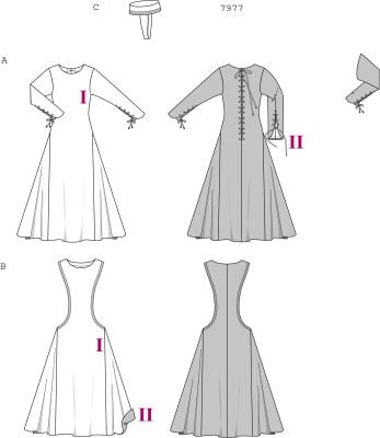 Burda 7977 Misses Medieval Dress Costume