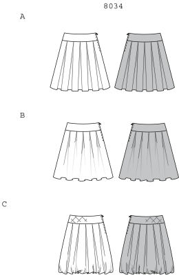 how to draw a pleated skirt on illustrator
