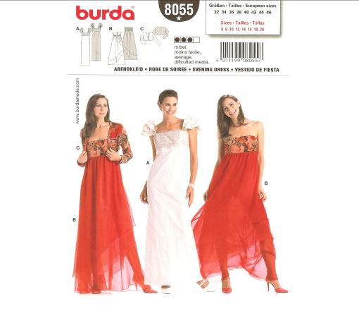 Burda 8055 Evening Dress