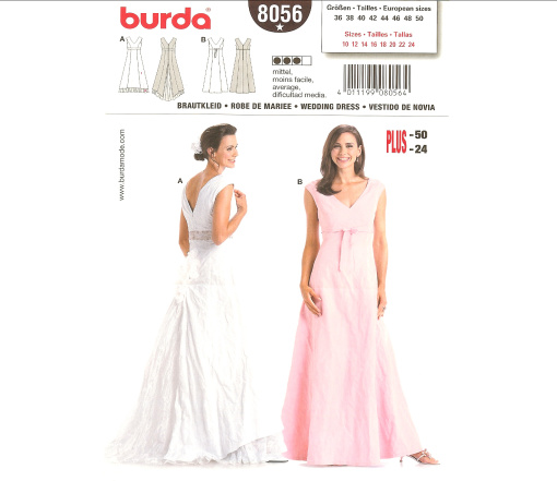 Burda 8056 Wedding Dress