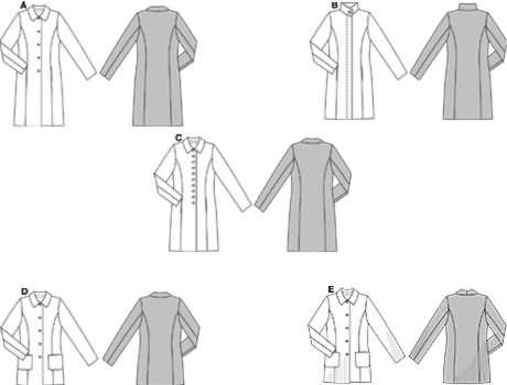 Burda 40 Coats Custom Coat Pattern