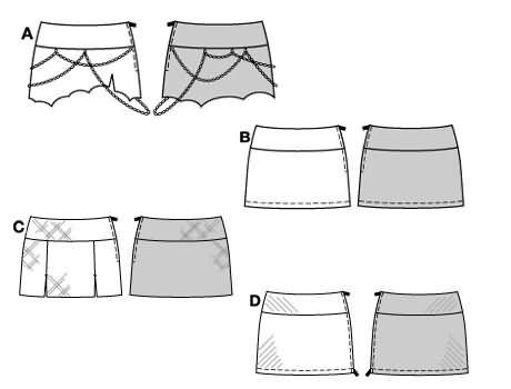Burda 8397 Skirt