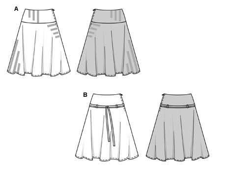 Burda 8677 Skirt